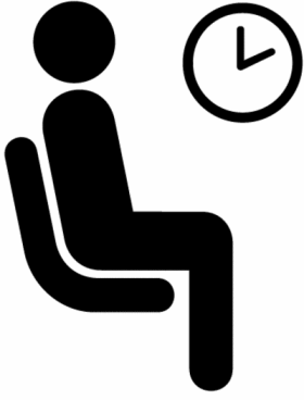 Waiting room stick figure